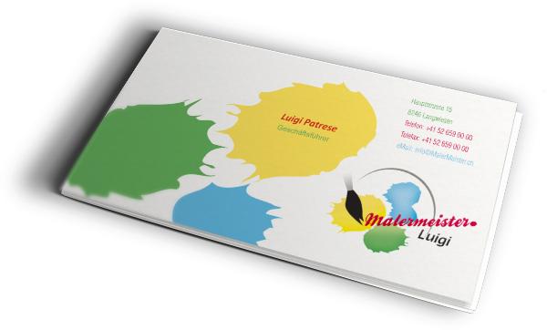 Malermeister Luigi Visitenkarte