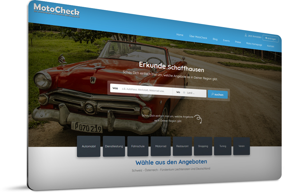 Motocheck – das unabhängige und kostenlose Meinungsportal für die Schweiz, Fürstentum Liechtenstein, Österreich und Deutschland.