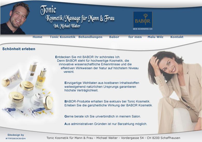 Tonic Kosmetik - Massage für Mann und Frau